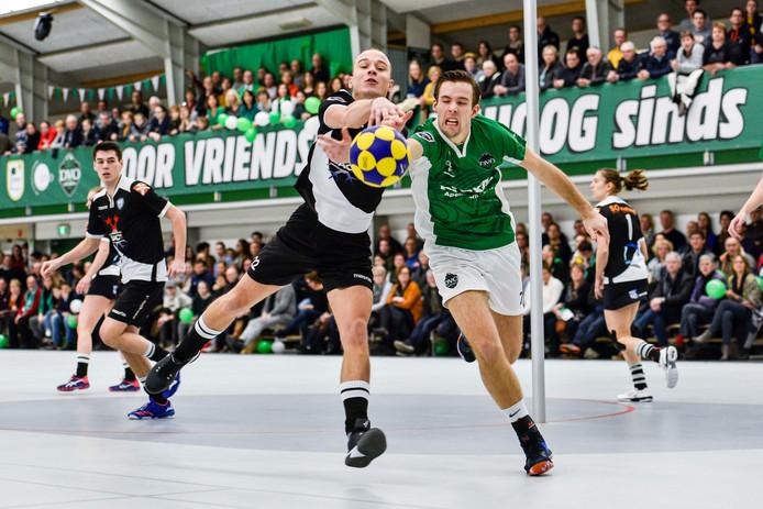 DVO op archiefbeeld. Ook volgend seizoen speelt DVO in de Korfbal League. De ploeg van Richard van Vloten won met 29-23 van DOS'46.