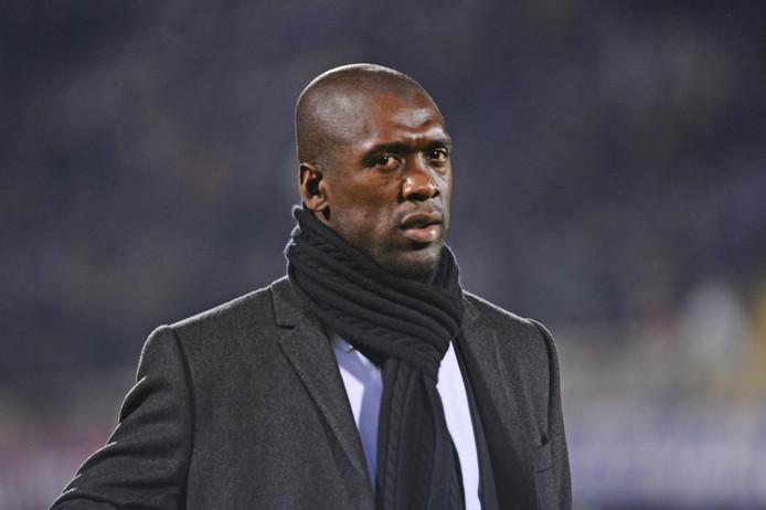 Clarence Seedorf als coach van AC Milan in 2014.