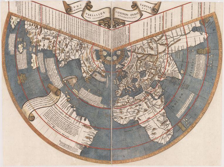 Een van de eerste kaarten van de nieuwe wereld, van Jan Ruysch.  Beeld