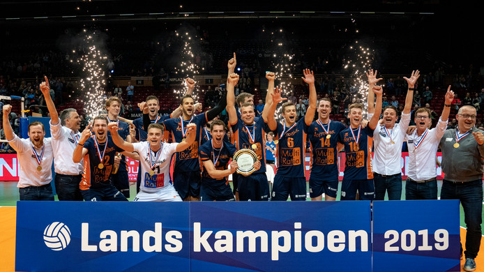 12-05-2019 NED: Abiant Lycurgus - Achterhoek Orion, GroningenFinal Round 5 of 5 Eredivisie volleyball, Orion win 3-2 and is Dutch Champion