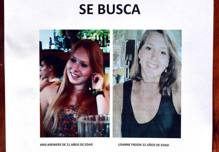 De vermiste meisjes, Kris Kremers (L) en Lisanne Froon. Beeld AFP