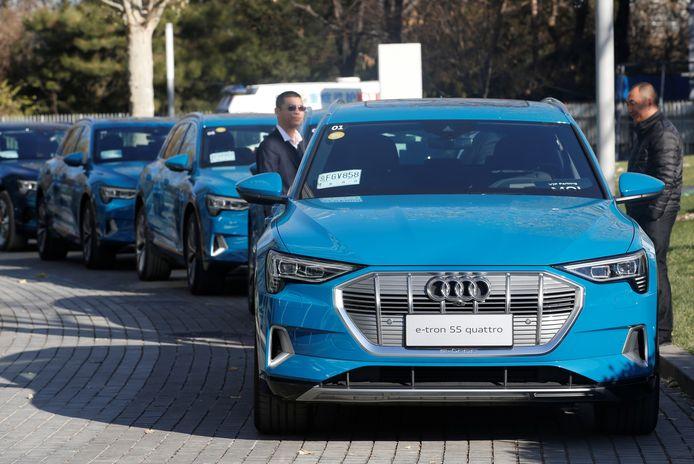 Audi 55 e-Tron Quattro, de nieuwe dienstauto van het college in Amsterdam
