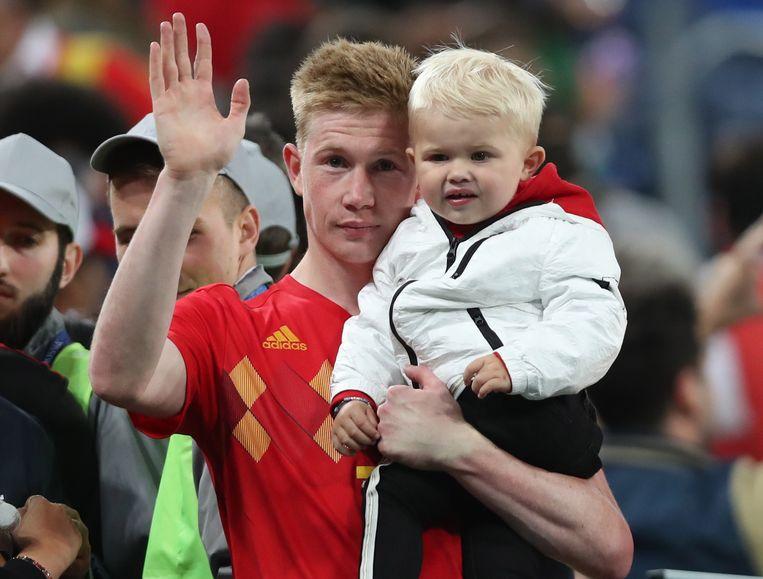 Kevin De Bruyne met zoontje Mason Milian.