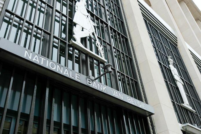 Het hoofdgebouw van de Nationale Bank van België.