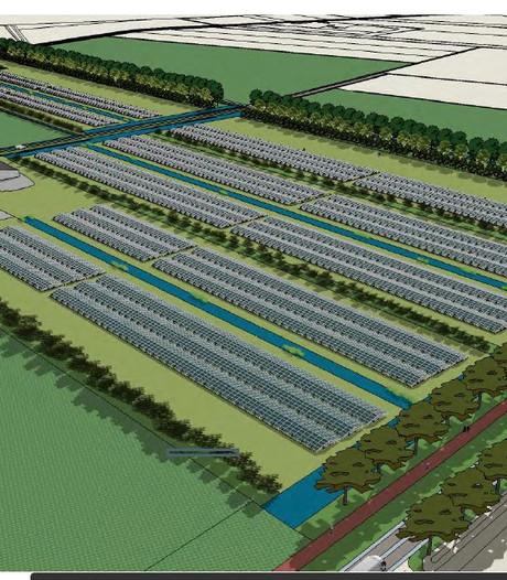Zonnepark met 21.000 panelen op Heesch-West