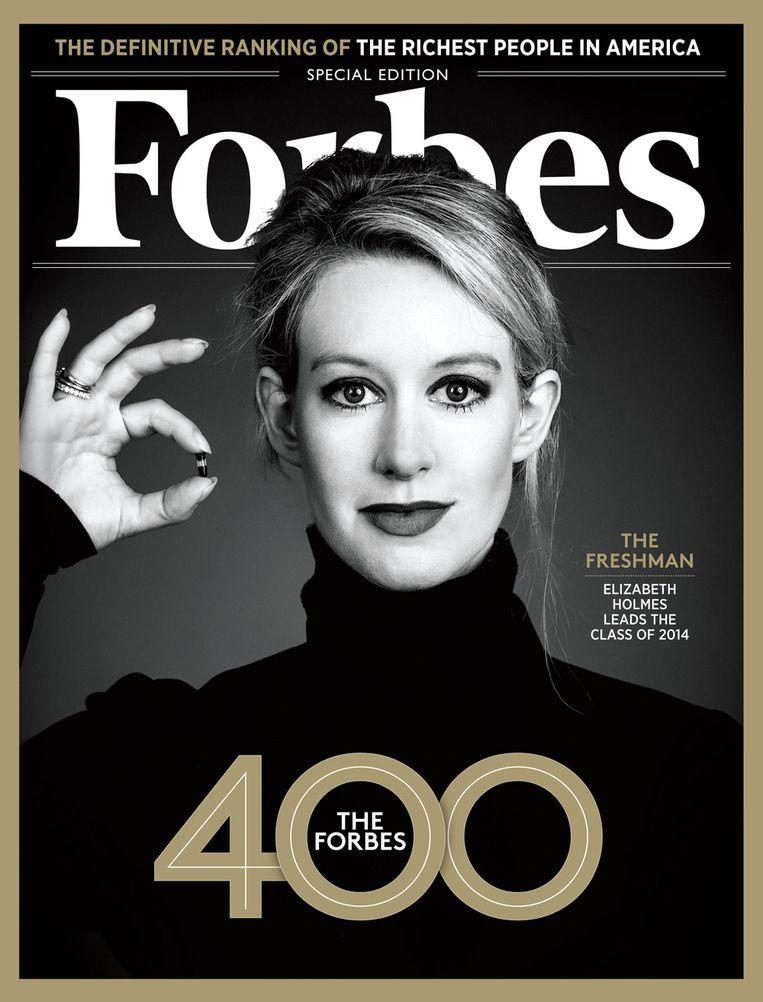Elizabeth Holmes op de cover van Forbes. Beeld .
