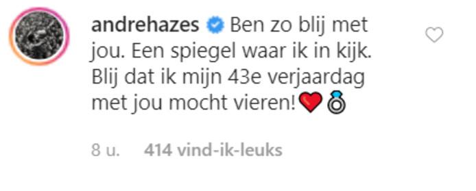 Reactie André Hazes.