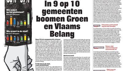 In 9 op 10 gemeenten boomen Groen en Vlaams Belang