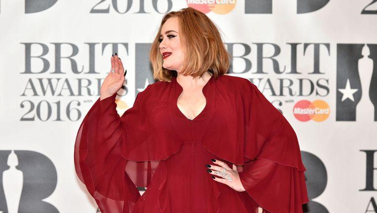 Adele bij de Britse Music Awards Beeld anp