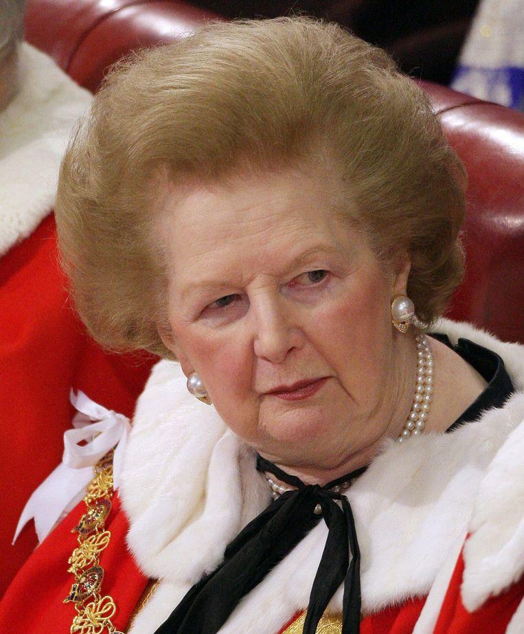 Margaret Thatcher in 2008. Beeld afp