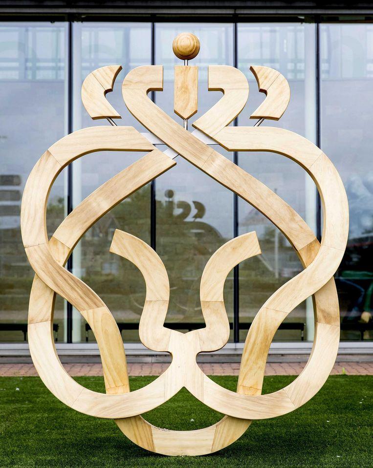 Het nieuwe logo van Ahold Delhaize. Beeld anp
