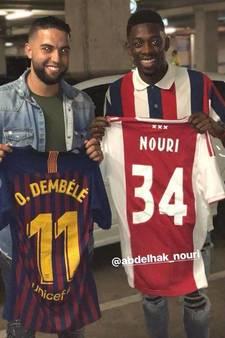 Dembélé krijgt na duel met PSV het shirt van Nouri