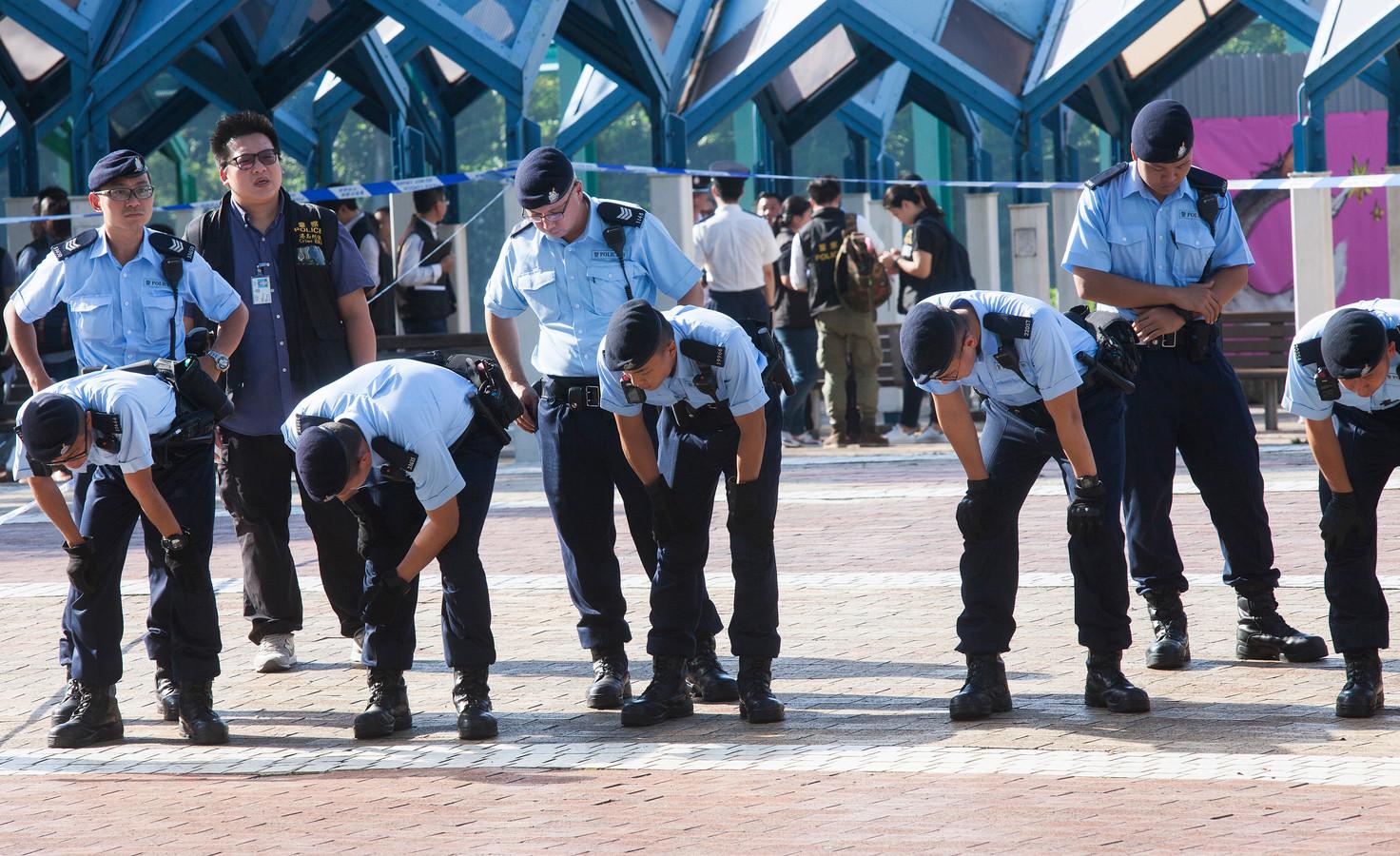 Politieagenten in Hongkong. Foto ter illustratie.
