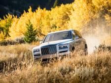 Gewaagd: met een Rolls-Royce het terrein in