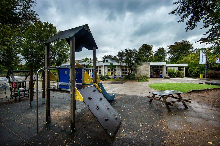 Basisschool de 16e Montessorischool in Zuidoost moest twee weken geleden dicht vanwege het lerarentekort. Beeld Jean-Pierre Jans