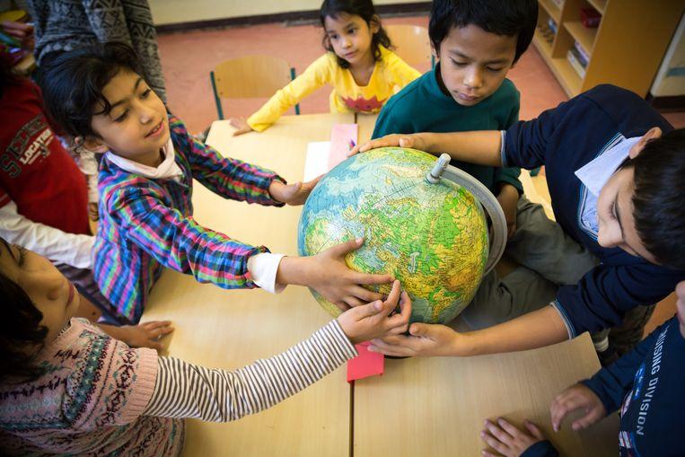 In grote steden als Hamburg en Berlijn heeft 40 procent van de kinderen een migratieachtergrond Beeld Gordon Welters/laif