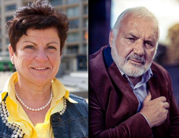 Janna Rommel-Opstaele (Open Vld) en Jean-Marie Dedecker (Lijst Dedecker).