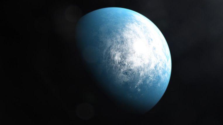 Tekening van TOI 700 d, een planeet waarop in potentie leven kan voorkomen. Beeld NASA's Goddard Space Flight Center