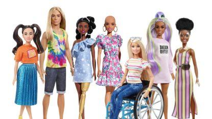 Mattel maakt nu ook Barbies met vitiligo en kale poppen met alopecia
