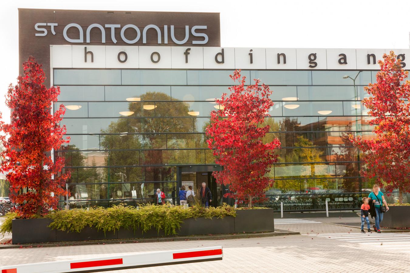 De entree van het St. Antonius ziekenhuis in Woerden