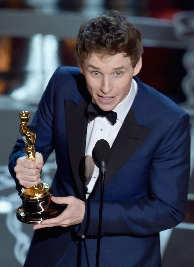 Eddie Redmayne won de Oscar voor Beste Acteur in 'The Theory of Everything'.