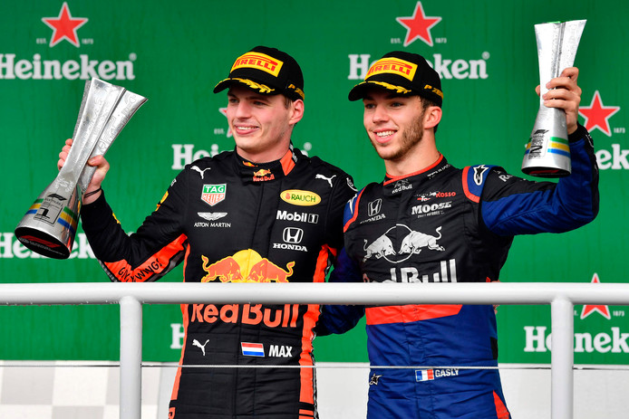 Max Verstappen et Pierre Gasly.