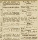 Haar geboorte staat in de Nieuwe Gorinchemse Courant.