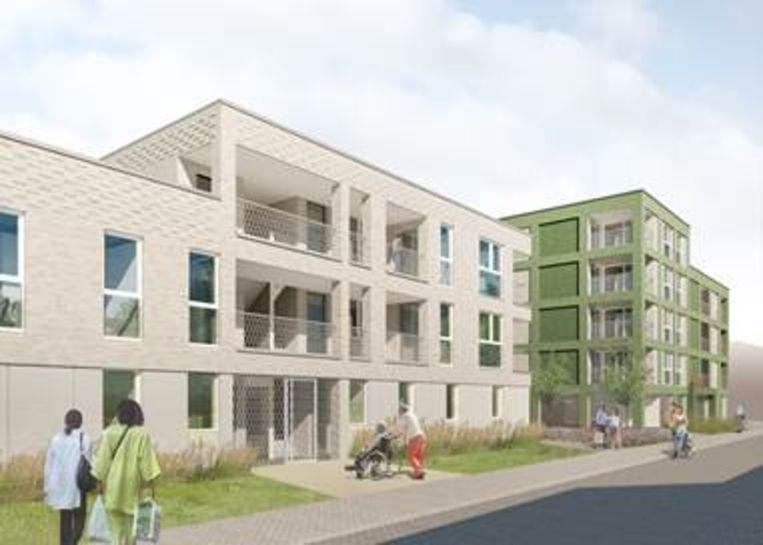 Impressie van de nieuwbouw van Woonpunt Mechelen in de Overheide en Neerheide