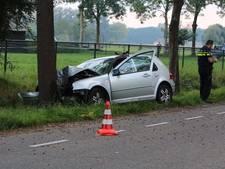 Automobilist gewond door botsing op boom bij Erp