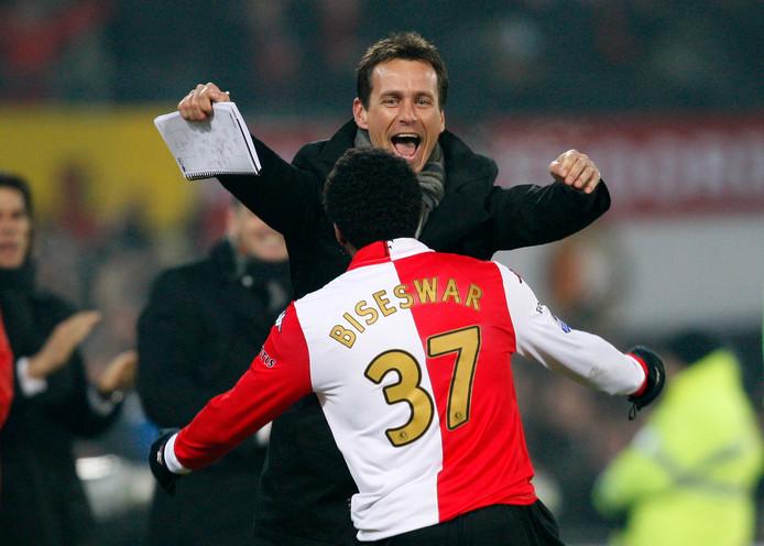 Leon Vlemmings als trainer van Feyenoord.