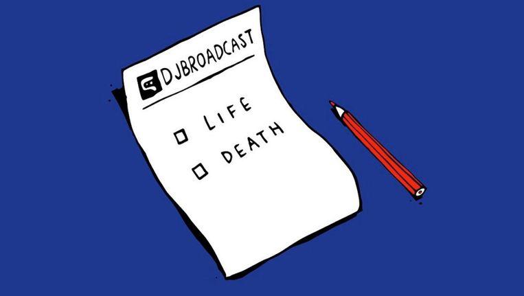 Bericht op de website van DJBroadcast op 15 november. Beeld Djbroadcast.net