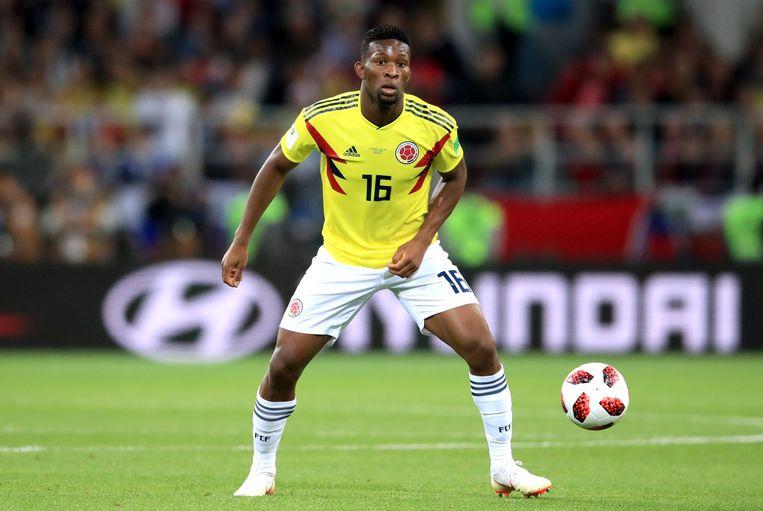 Jefferson Lerma in actie op het WK met de Colombiaanse nationale ploeg