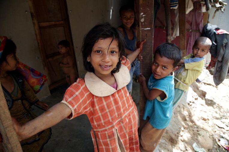 Een meisje afkomstig uit een Rohingyagezin. Beeld ANP