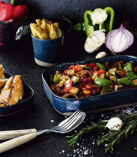 Wat Eten We Vandaag: Provençaalse ratatouille met kruidige aardappeltjes