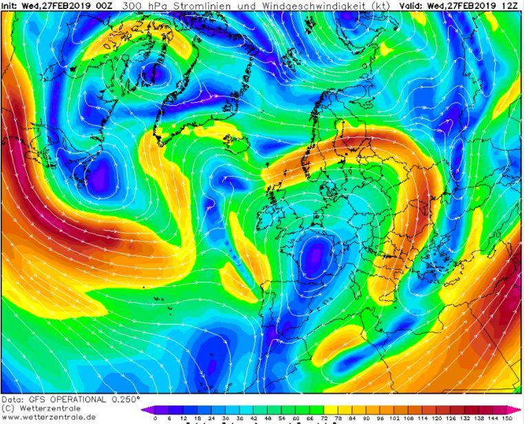 Een Omegablokkade brengt lenteweer in grote delen van Europa.
