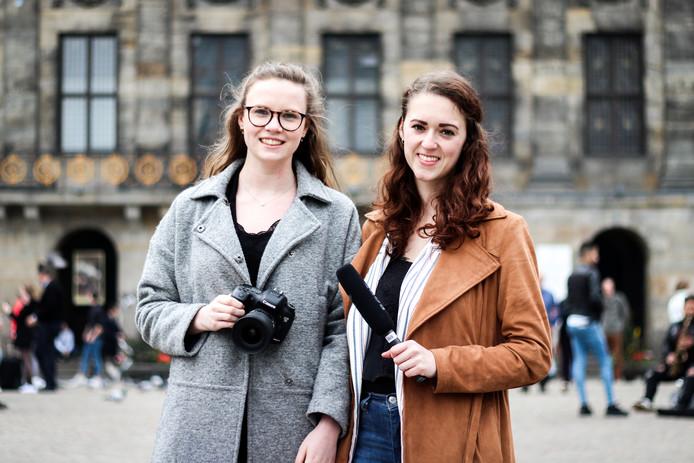 De documentairemakers Maxime Vernooij (links) en Desi van Driel