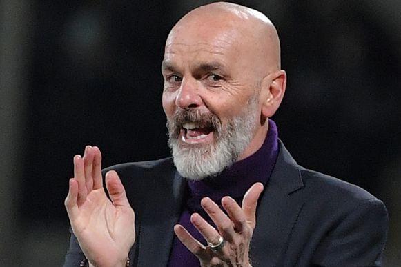 Stefano Pioli als trainer bij Fiorentina.