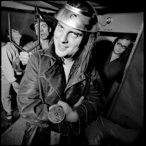 Een archieffoto van de Ugly Papas in hun gloriejaren, met Rekkemnaar Luc Dufourmont op de voorgrond.