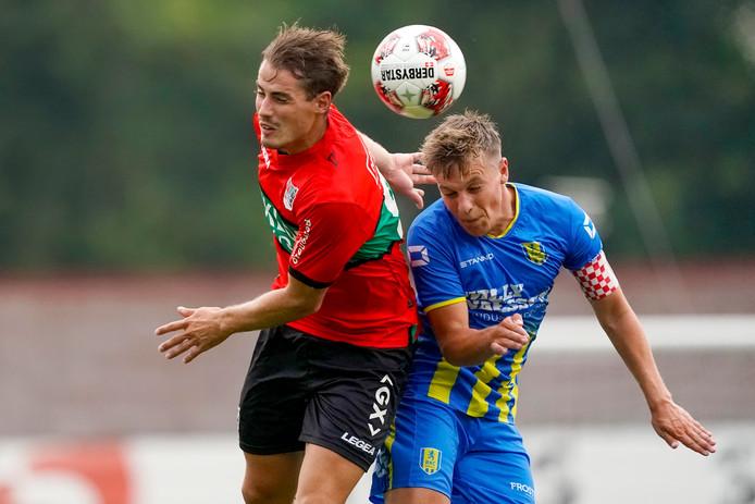 *Daan Rienstra* of RKC Waalwijk, *Sven Braken* of RKC Waalwijk