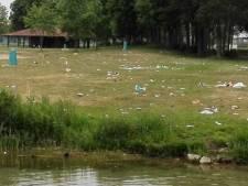 Beheerders recreatieplas Bussloo schrikken zich rot van de troep: 'Ruim alsjeblieft je rommel op'
