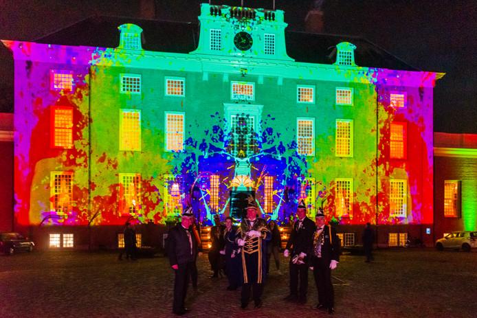 Tijdens de nieuwjaarsreceptie van de gemeente Zeist was een voorproefje te zien van het Internationale Lichtfestival dat aanstaande vrijdag begint.