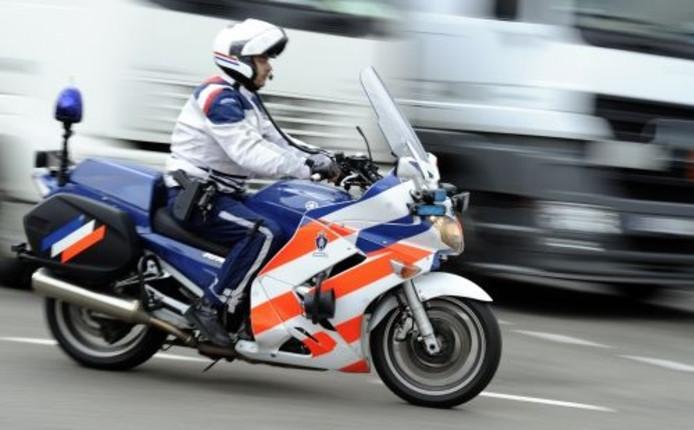 Motoragent van de Marechaussee. Foto: ANP