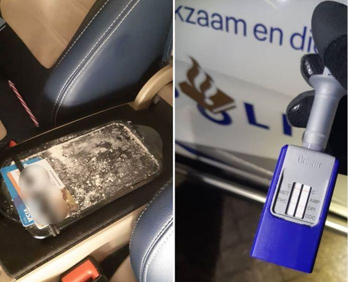 De politie hield de bestuurder aan in Olst.
