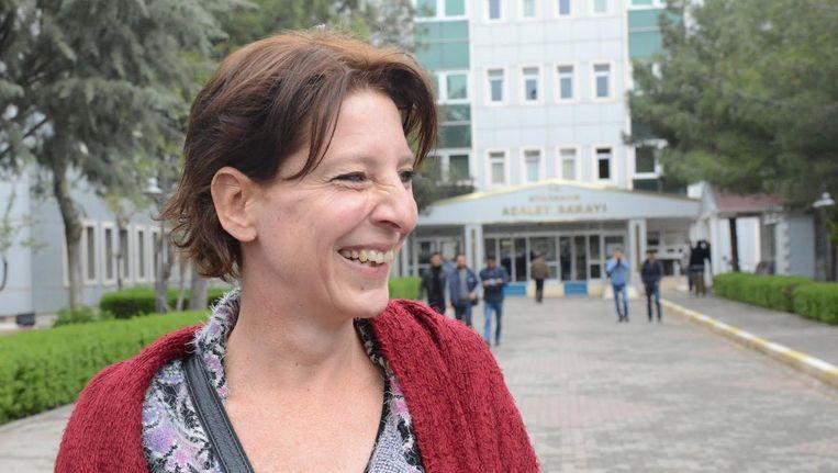 Geerdink voor de rechtbank in Diyarbakir afgelopen april Beeld anp