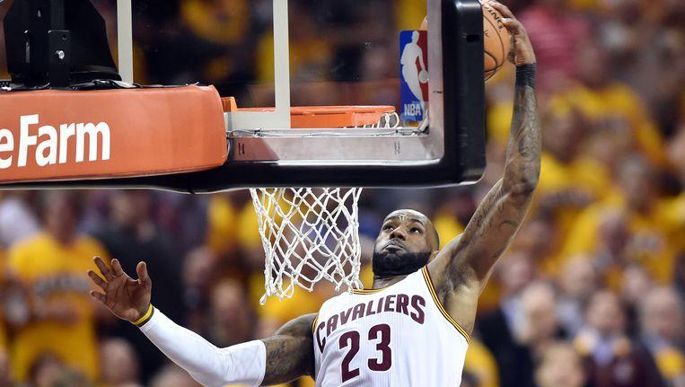 LeBron James was andermaal de uitblinker bij de Cavaliers.
