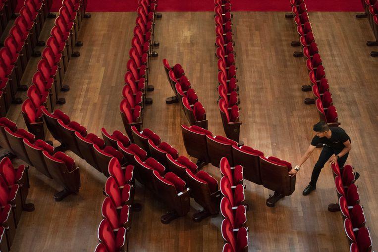 Een lege zaal in het Concertgebouw. Beeld ANP