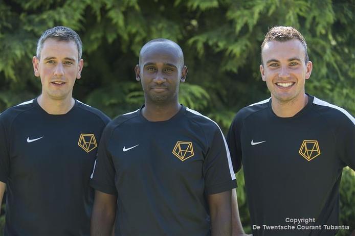 Drie van de vijf trainers: Abdi Hassan (midden), Kris Kempers (links) en Roy de Vos.