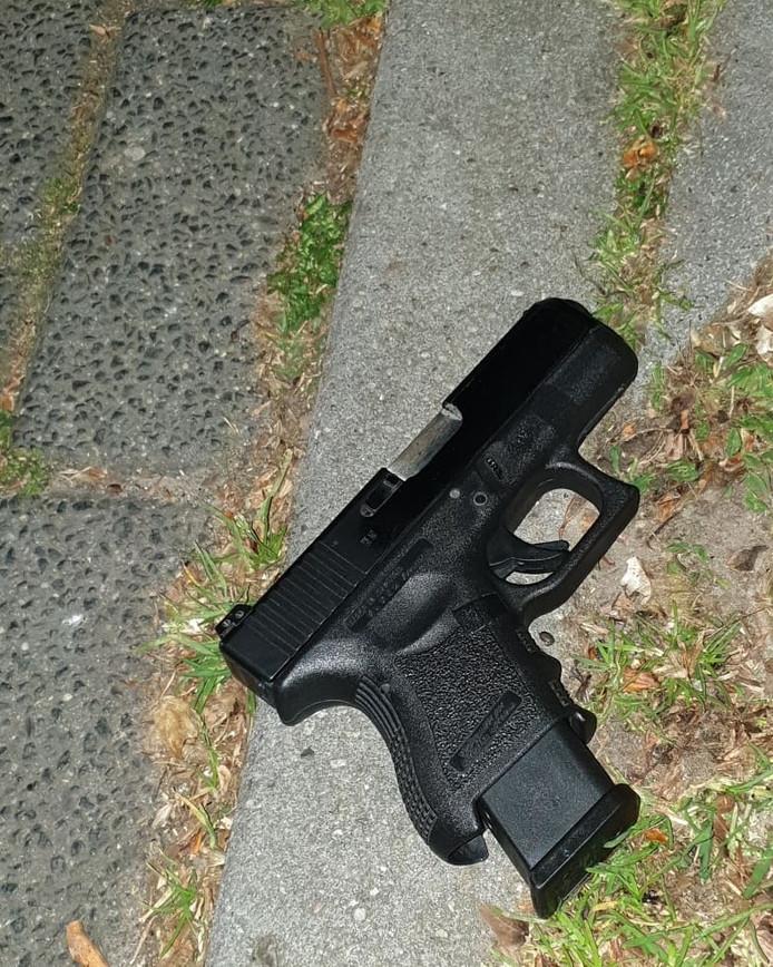 Het wapen dat werd aangetroffen.
