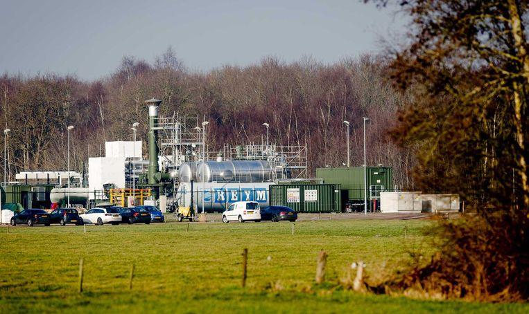 Gaswinning door Tulip Oil bij de Friese plaats Hemrik. Het Nederlandse olie- en gasbedrijf wil gas gaan winnen uit een bel in de Noordzee op een paar kilometer voor de kust van Terschelling Beeld ANP