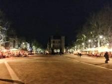 Waag, Bergkerk en Lebuinus in het donker in Deventer